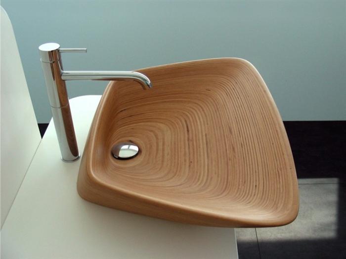 Деревянная раковина от PlavisDesign.
