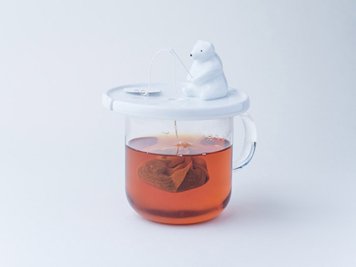 Держатель для пакетика чая в форме мишки.