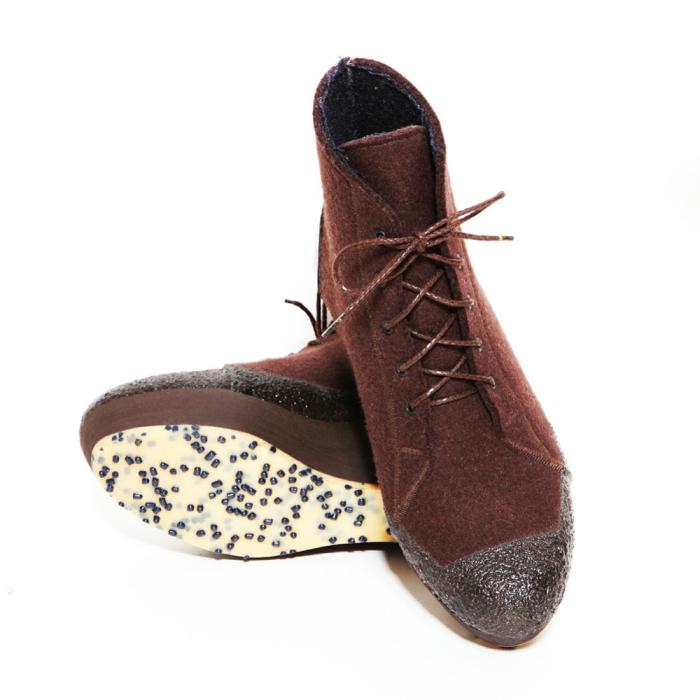 Войлочные ботинки на резиновой подошве от Woolings.