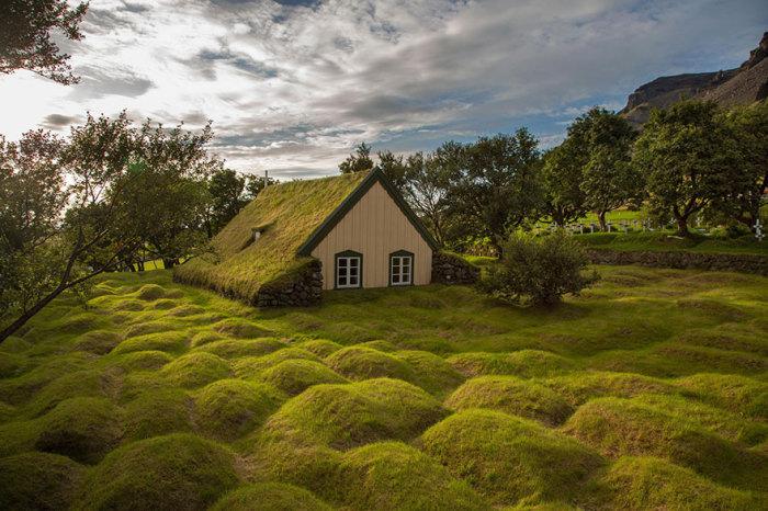 Hofskirkja, Исландия.