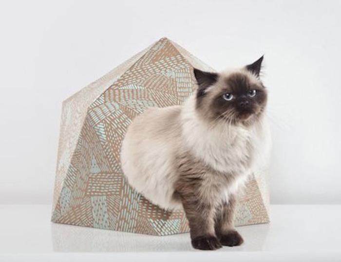 Очаровательный дизайн кошачьего домика от Дельфина Курье (Delphine Courier).