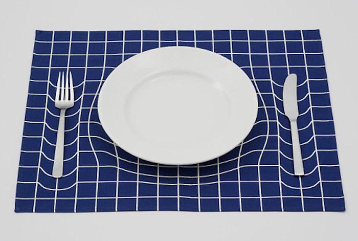 Салфетка с оптической иллюзией от A.P.Works.
