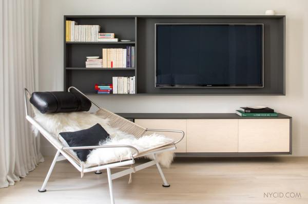 Сдержанны дизайн интерьера нью-йоркской квартиры от NYC Interior Design.