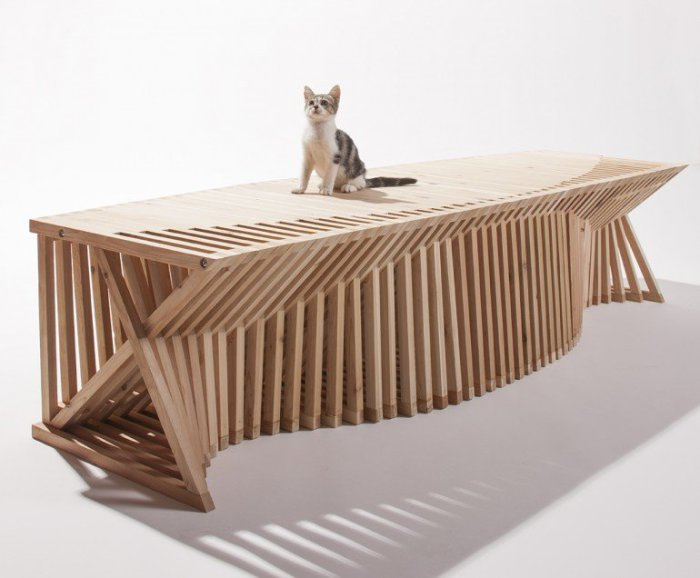 Игровой домик для котиков от Formation Association + Edgar Arceneaux.