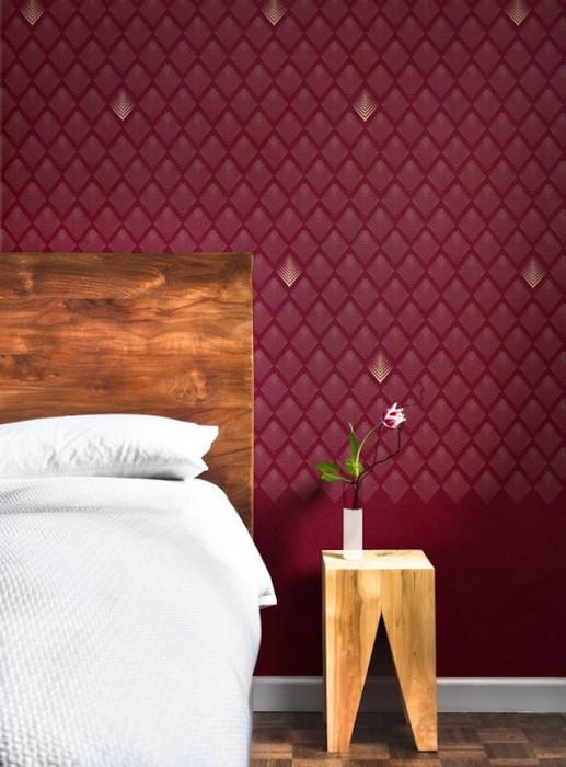 Обои для спальной комнаты от Mues Design.