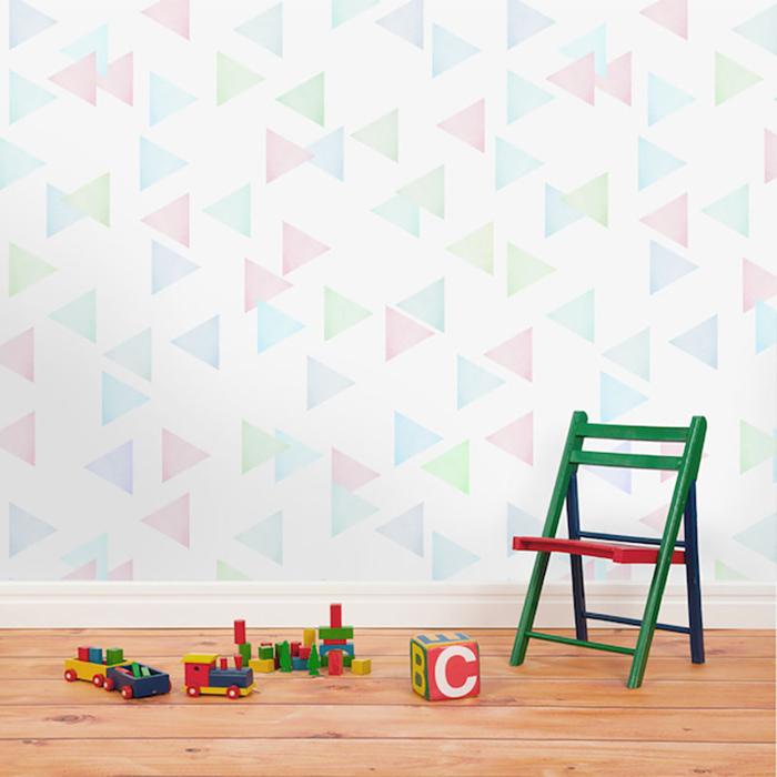 Нежные обои для детской от французской дизайн-студии.