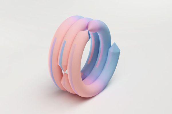 Стильные градиентные браслеты, распечатанные на 3D-принтере.