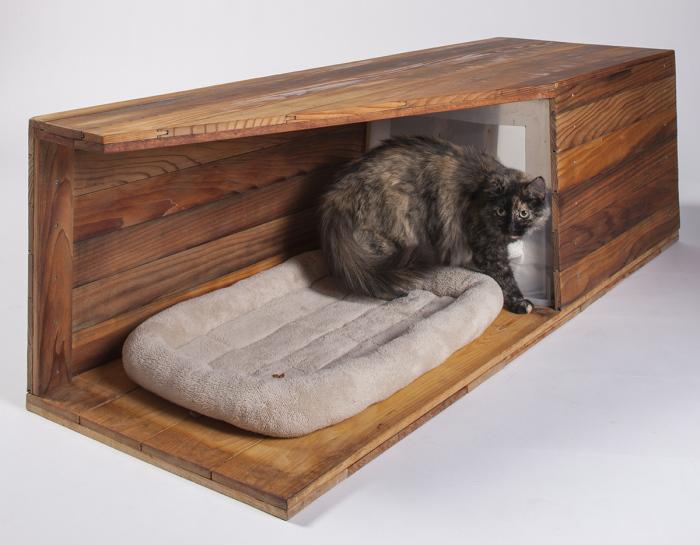 Оригинальный домик для кота от Abramson Teiger Architects.
