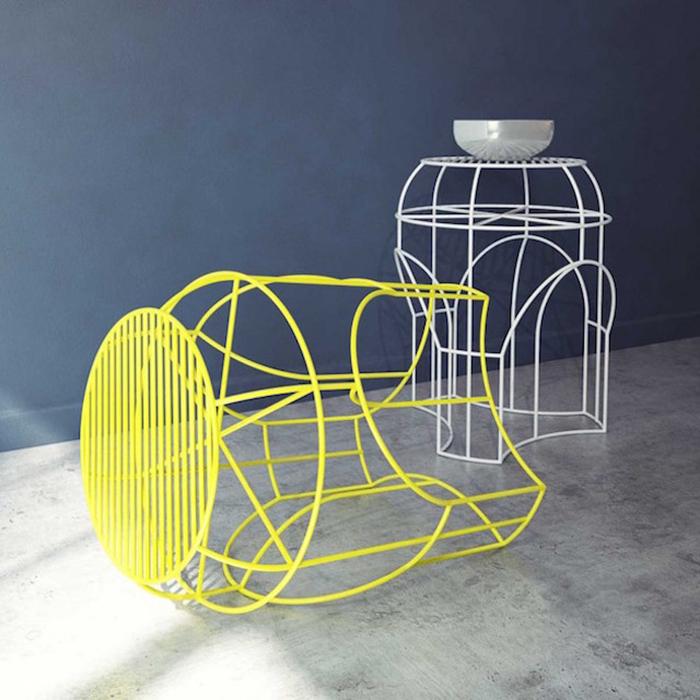 Оригинальный декоративный столик от дизайн-студии Levantin Design.