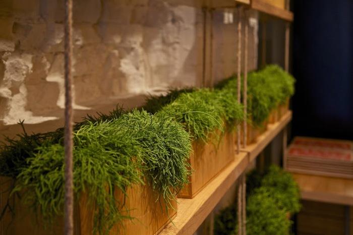 Натуральные декоративные элементы в интерьере.