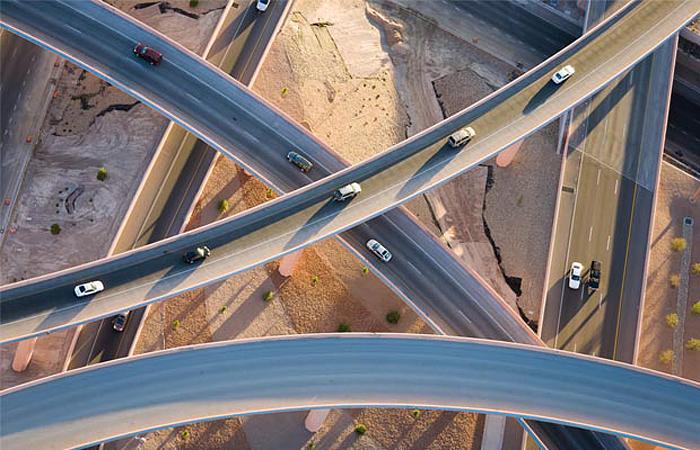 Эстакады в Альбукерке, Нью-Мексико. Автор - Алекс Маклин (Alex McLean).