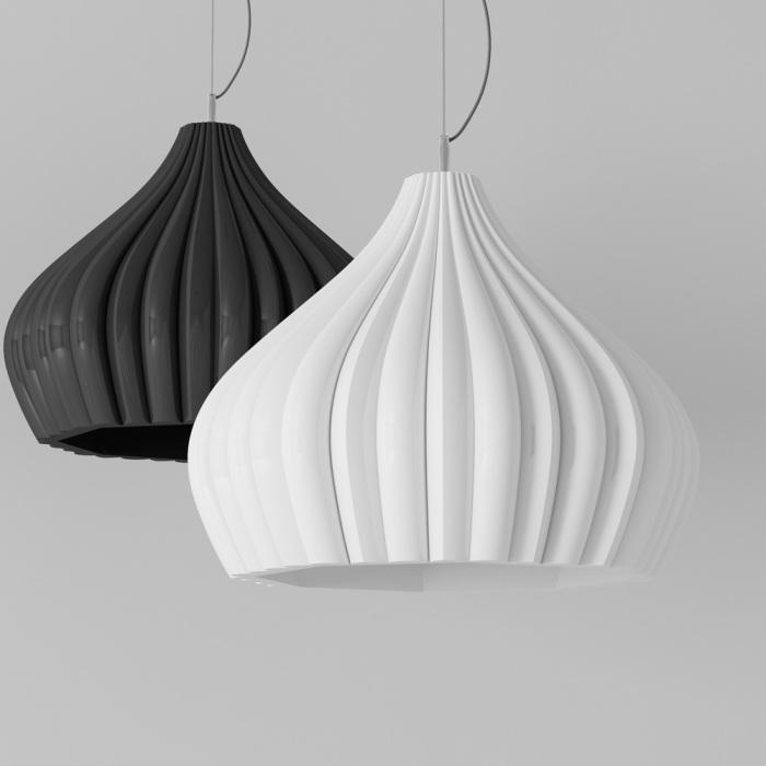 Элегантные лампы с плафонами в форме куполов.