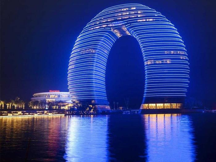Курортный отель Sheraton Huzhou Hot Spring Resort.