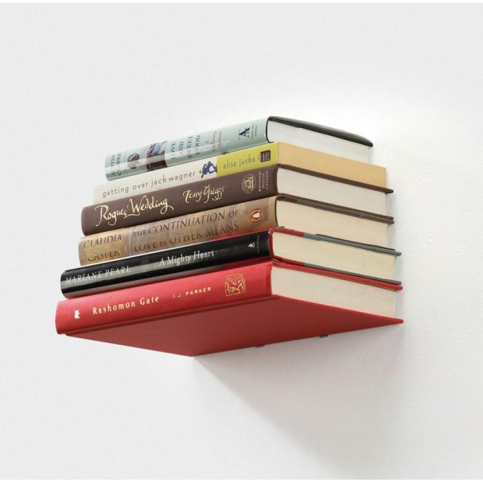 Книжная полка в виде книги.
