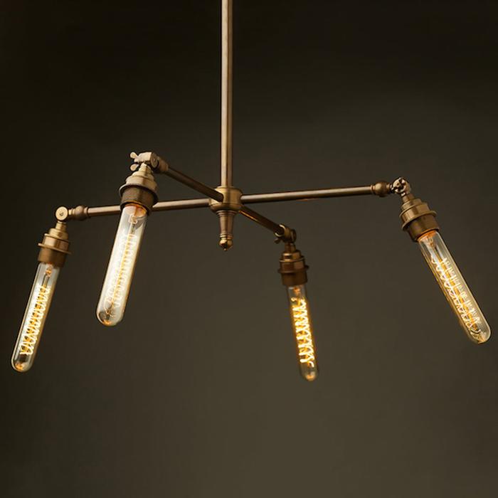 Потолочный светильник в стиле стимпанк от Edison Light Globes.