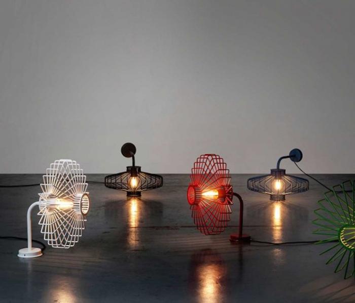 Настольные лампы от студии Studio Beam.