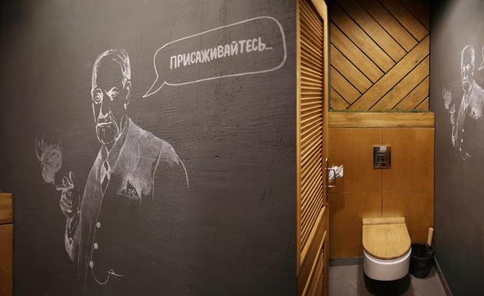 Немного юмора в интерьере ресторана «Simple.».
