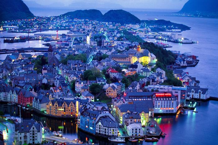 Олесунн, Норвегия.