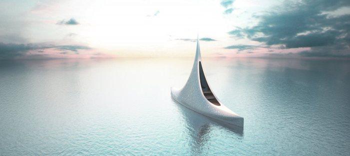 Уникальный дизайн яхты от русского архитектора.
