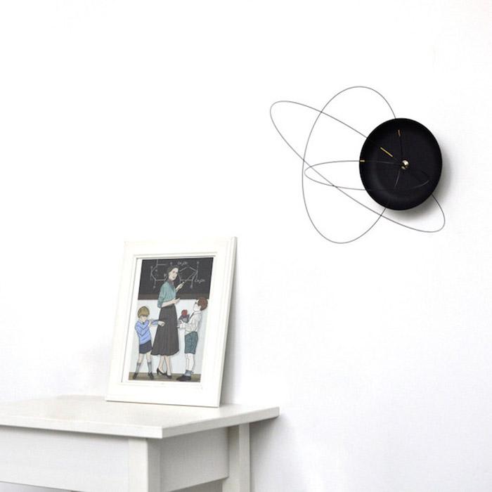 Orbits Clock - оригинальные настенные часы с импровизированными орбитами.