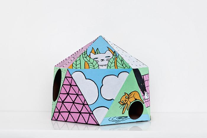 Веселый кошачий домик от бельгийского дизайнера.