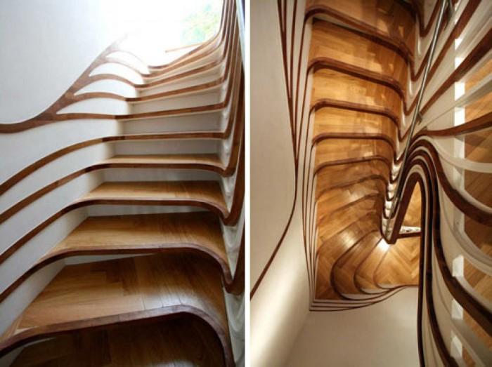 Неординарный дизайн лестницы Trippy Stairs.