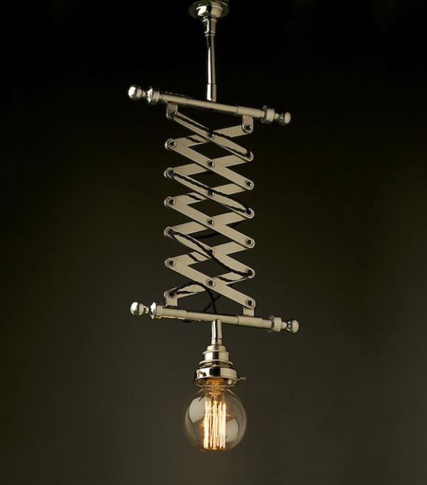 Причудливый потолочный светильник от Edison Light Globes.