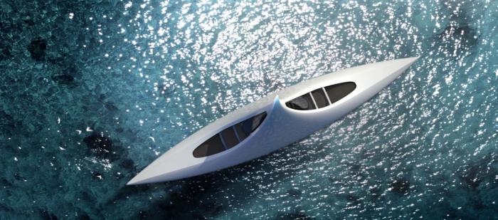 Необычный дизайн яхты от Игоря Лобанова.