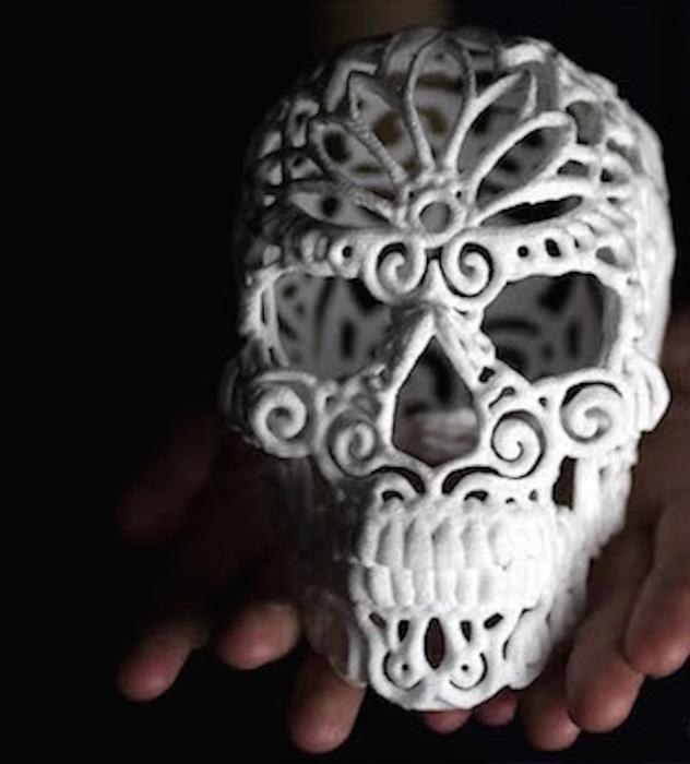 Декоративнй сахарный череп от The Sugar Lab.