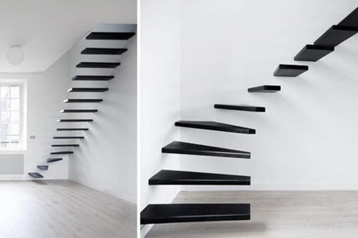 Дизайн лестницы в стиле минимализм.