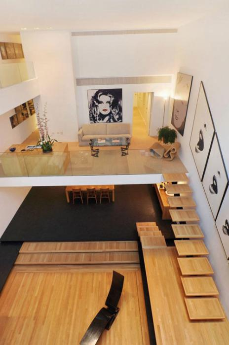 Дизайн деревянных лестниц от Paul Rudolph.