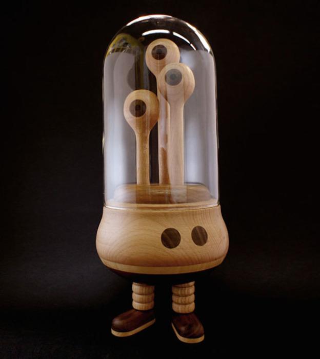 Деревянные роботы от творческого дуэта из Голландии.