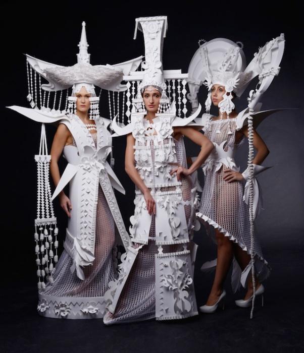 Линия бумажных костюмов от Аси Козиной (Asya Kozina).