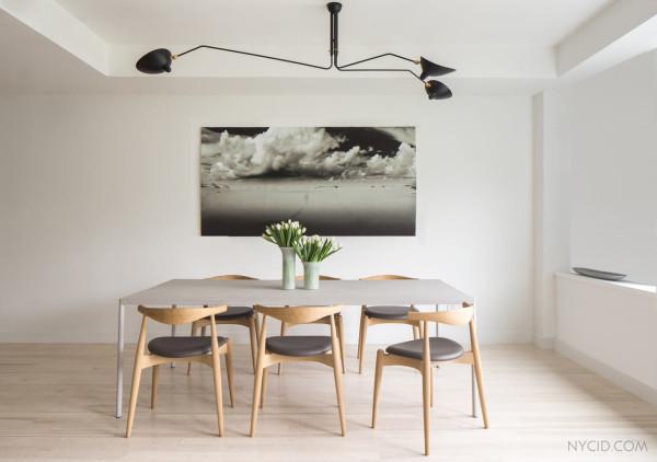 Стильный дизайн столовой от студии NYC Interior Design.