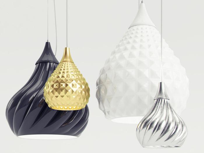 Светильники в форме куполов от итальянского дизайнера.