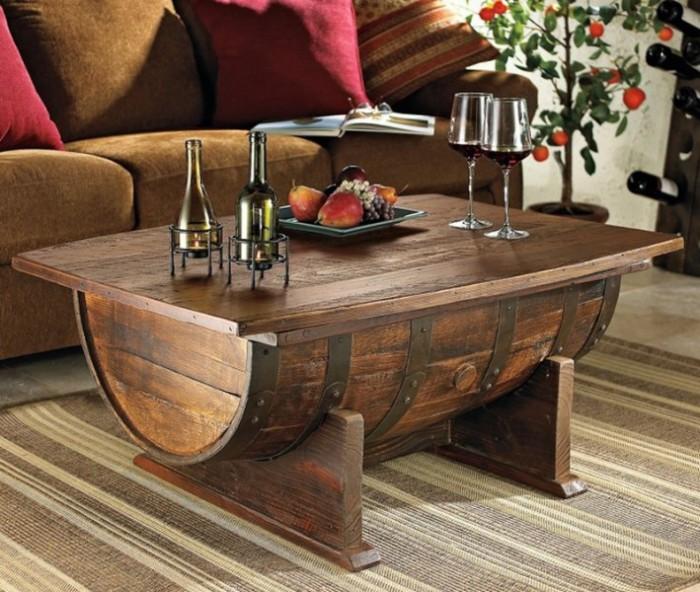 Кофейный столик из бочки - ручная работа.