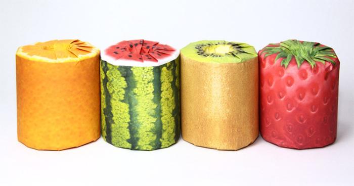Красочные рулоны туалетной бумаги от Latona Marketing Inc.