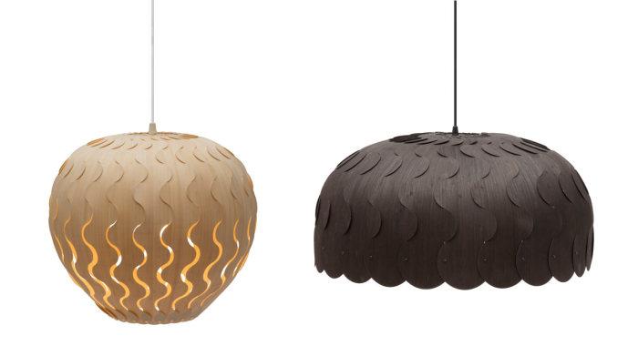 Оригинальные потолочные светильники от Дэвида Трабриджа (David Trubridge).
