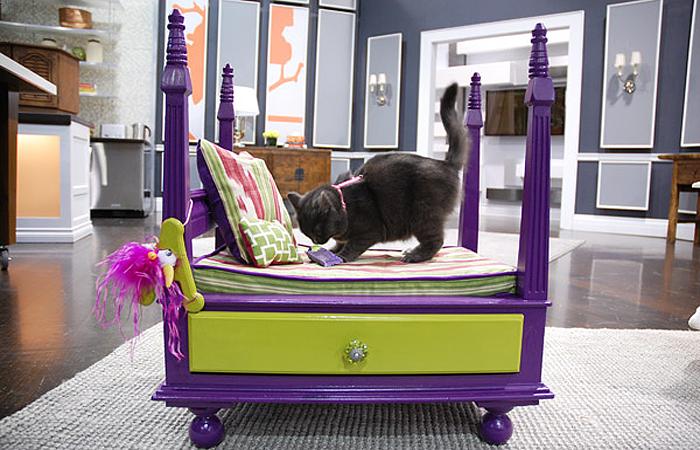 Роскошная кровать для ласкового котика.