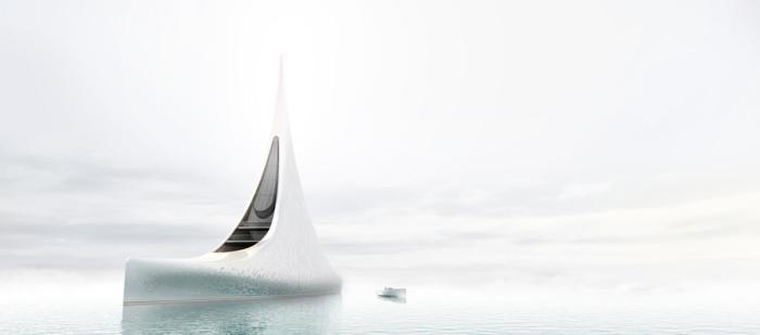 Концепт яхты-гиганта класса люкс.