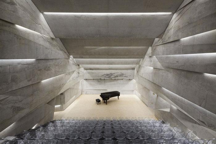 Подземный концертный зал Питера Хэмерла (Peter Haimerl).