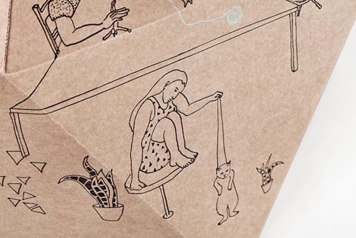 Оригинальный дизайн кошачьего домика от Дельфина Курье (Delphine Courier).