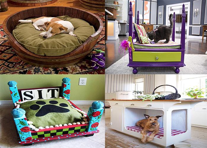 Забавные кроватки для домашних питомцев.