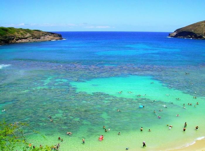 Ханаума Бэй, остров Оаху, Гавайи.