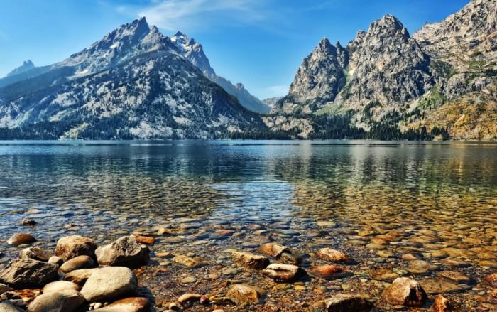Озеро Дженни, штат Вайоминг, США.