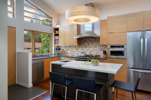 Интерьер кухонной зоны от Ana Williamson Architect.