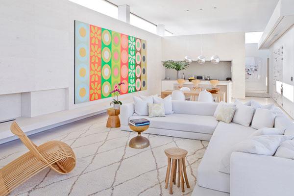 Белый интерьер дома в Хэмптоне от Келли Бохун (Kelly Behun).