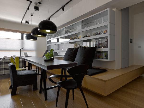 Стильный дизайн квартиры коллекционеров в Тайване.