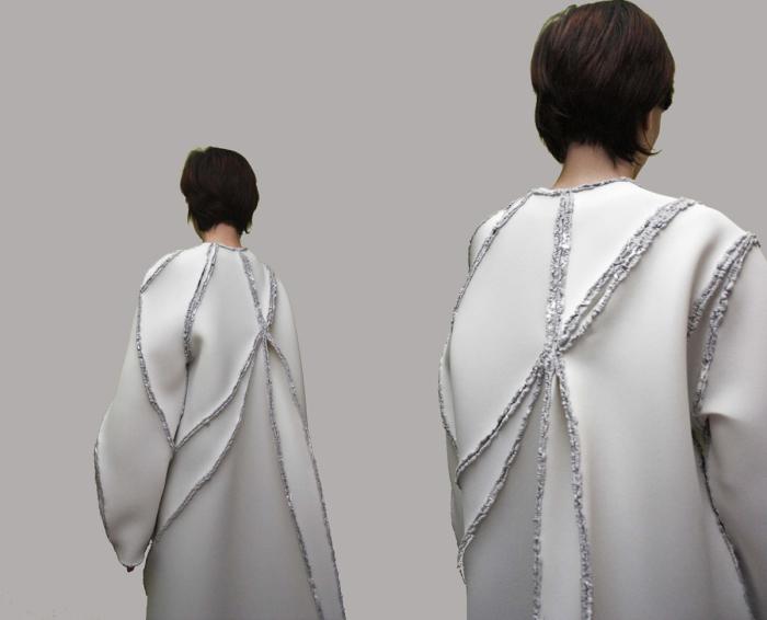 Пальто з спаяних між собою шматків матеріалу від Зіти мерен (Zita Merenyi).