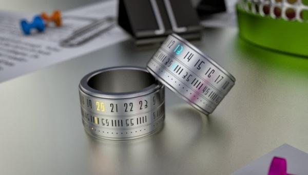 Кольцо, показывающее точное время.